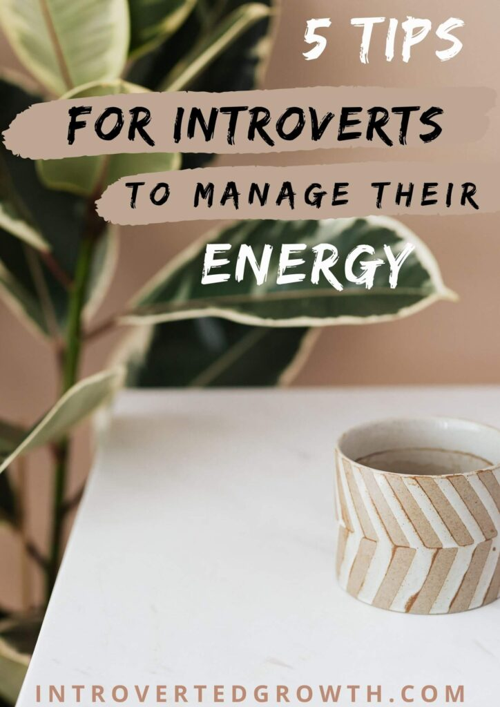 introvert energy management tips